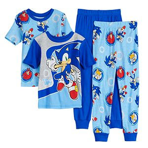Boys 4-10 Sonic the Hedgehog Step It Up Tops & Bottoms Pajama Set