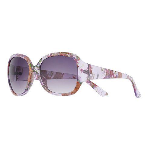 Women's Dana Buchman 40mm Floral Oval Gradient Sunglasses