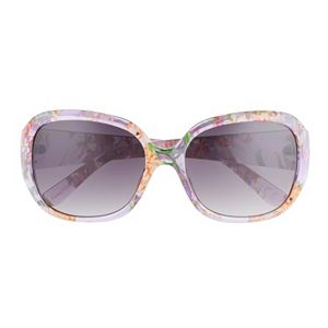 Women's Dana Buchman 40mm Floral Oval Gradient Sunglasses