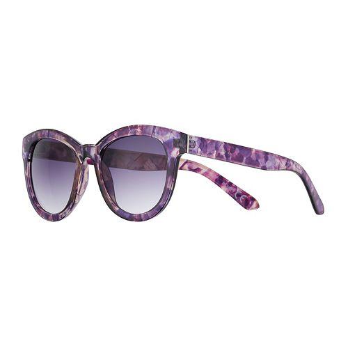 Women's Dana Buchman 52mm Floral Cat Eye Coquette Gradient Sunglasses