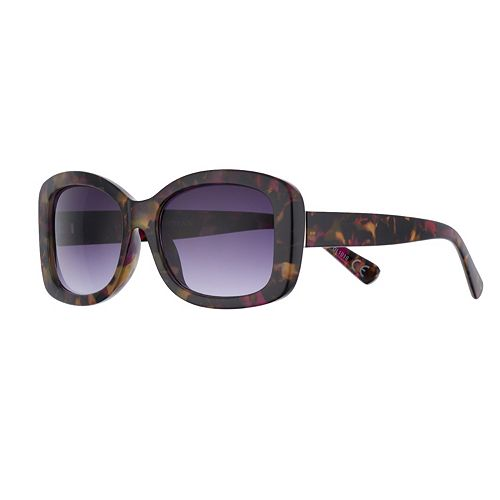 Women's Dana Buchman 55mm Multi Tort Rectangle Gradient Sunglasses