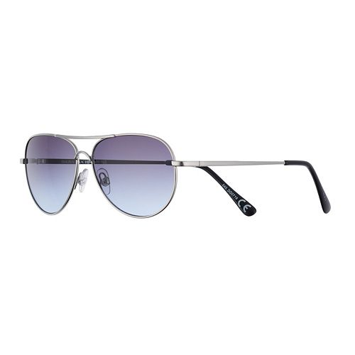 Women's Dana Buchman 55mm Petite Aviator Gradient Sunglasses
