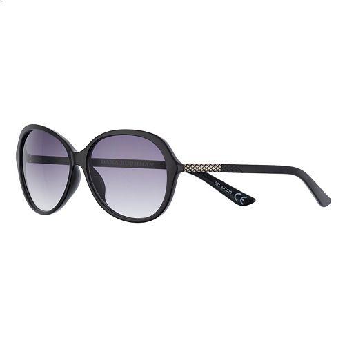 Women's Dana Buchman 58mm Oval Gradient Sunglasses with Animal Texture Temple Detail