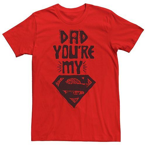 Men's DC Comics Superman Dad You're My Superman Stencil Graphic Tee