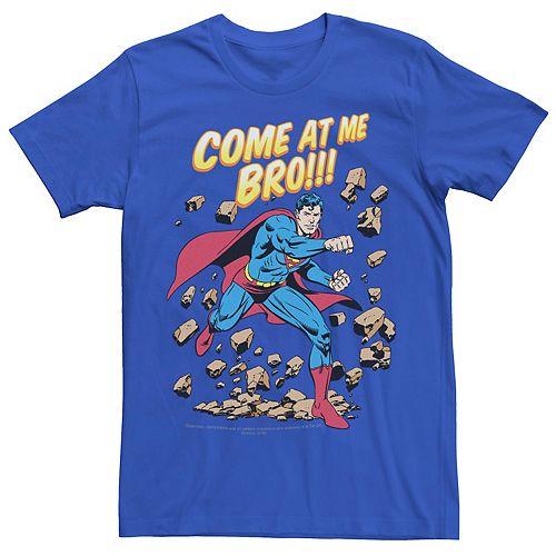 Men's DC Comics Superman Come At Me Bro Retro Graphic Tee