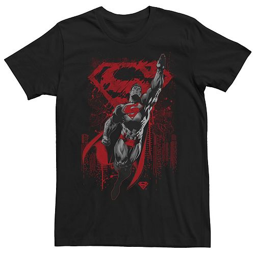 Men's DC Comics Superman Dark Hue Portrait Logo Graphic Tee