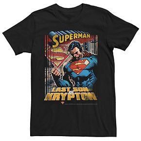 Men's DC Comics Superman Last Son Of Krypton Poster Graphic Tee