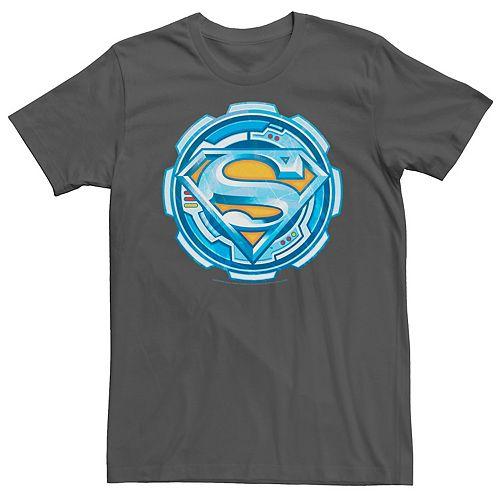 Men's DC Comics Superman Chrome Gear Chest Logo Graphic Tee