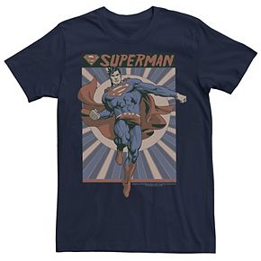 Men's DC Comics Superman Posed Pop Art Poster Graphic Tee