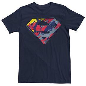 Men's DC Comics Superman Colored Pop Art Chest Logo Graphic Tee