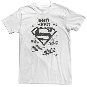 Men's DC Comics Superman Sketched Chest Logo Graphic Tee