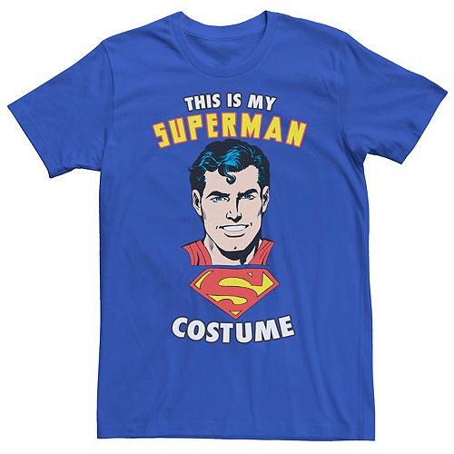 Men's DC Comics Superman This Is My Costume Text Graphic Tee