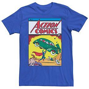Men's DC Comics Superman No.1 Comic Cover Graphic Tee