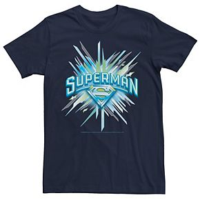 Men's DC Comics Superman Crystal Chest Text Logo Graphic Tee