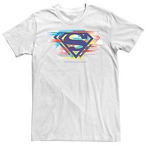 Men's DC Comics Superman Tri Colored Chest Logo Graphic Tee