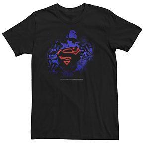 Men's DC Comics Superman Negative Hue Chest Logo Poster Graphic Tee