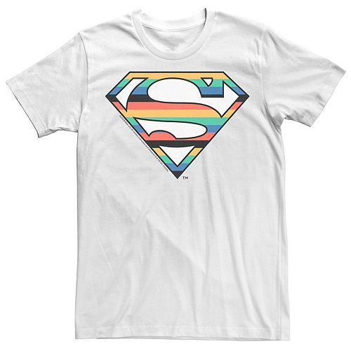 Men's DC Comics Superman Multi Color Logo Graphic Tee