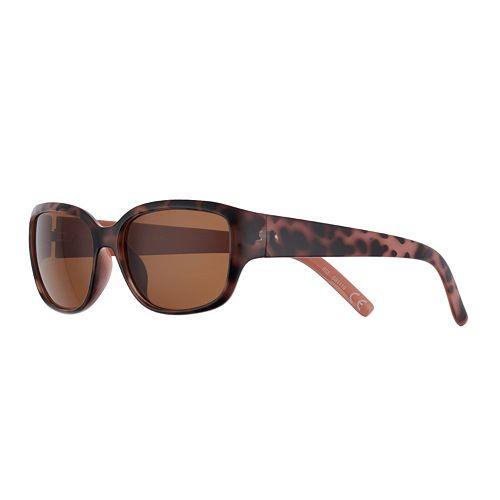 Women's Dana Buchman Petite Plastic Rectangle Sunglasses
