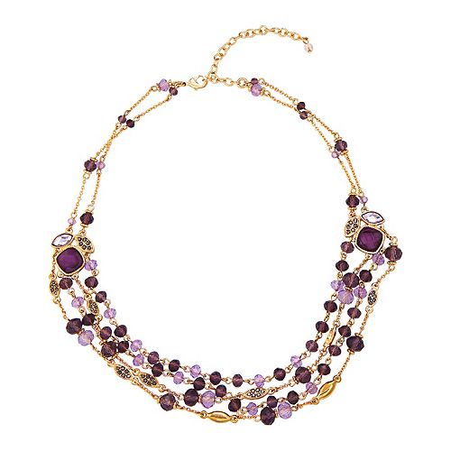 Napier 16 In. Beaded Multi Row Necklace