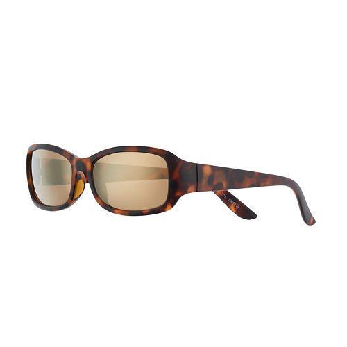 Women's FILA™ Tortise Rectangular Mirrored Sunglasses