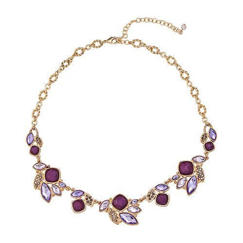 Napier Frontal Stone Cluster Necklace