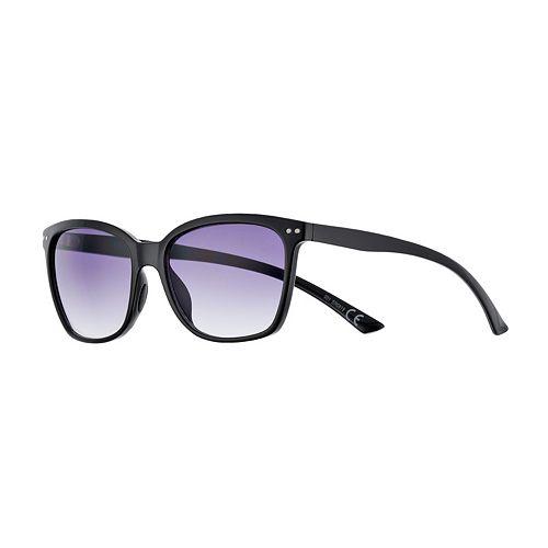 Women's FILA™ Black Modern 56mm Square Gradient Sunglasses