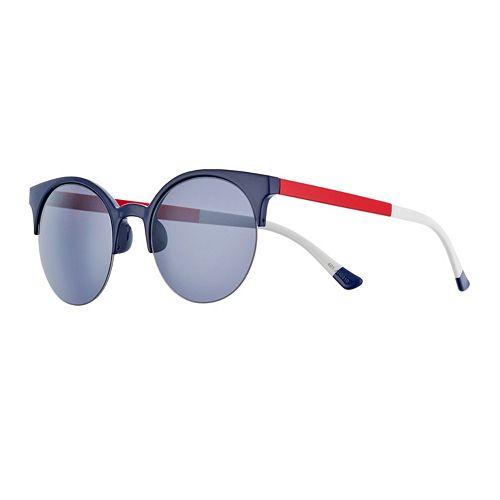 Women's FILA™ Colorblock Clubmaster 54mm Round Flash Sunglasses