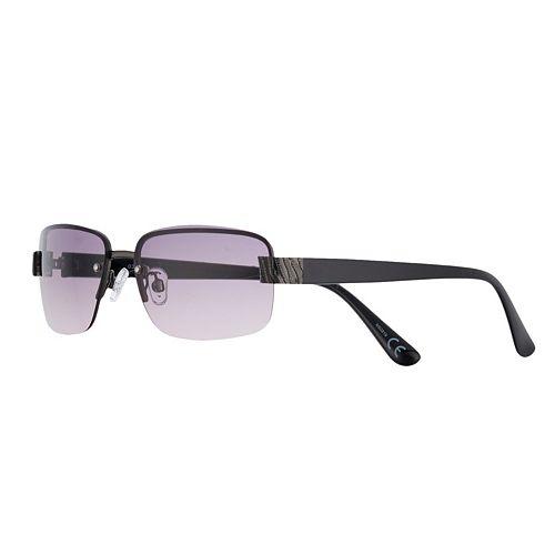 Women's Apt. 9® Semi-Rimless Animal Detailed Rectangle Sunglasses