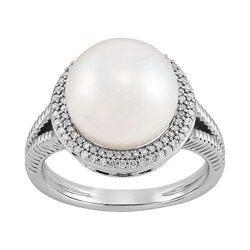 Sterling Silver 1/4 Carat T.W. Freshwater Cultured Pearl Ring