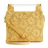 LC Lauren Conrad Floral Dowel Tote Bag