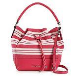 Dana Buchman® Striped Drawstring Bucket Bag
