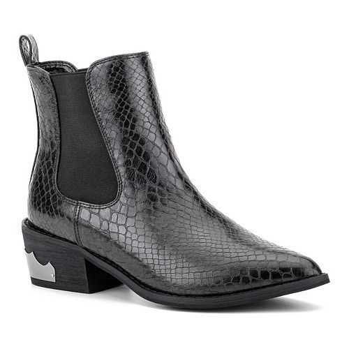 Olivia Miller Baby Baby Python Women's Ankle Boots