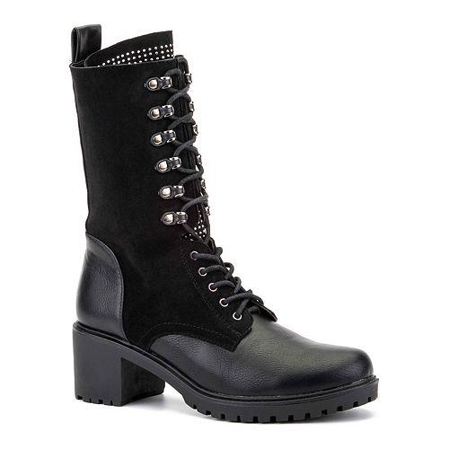 Olivia Miller Crossroads Embellished Women's Combat Boots