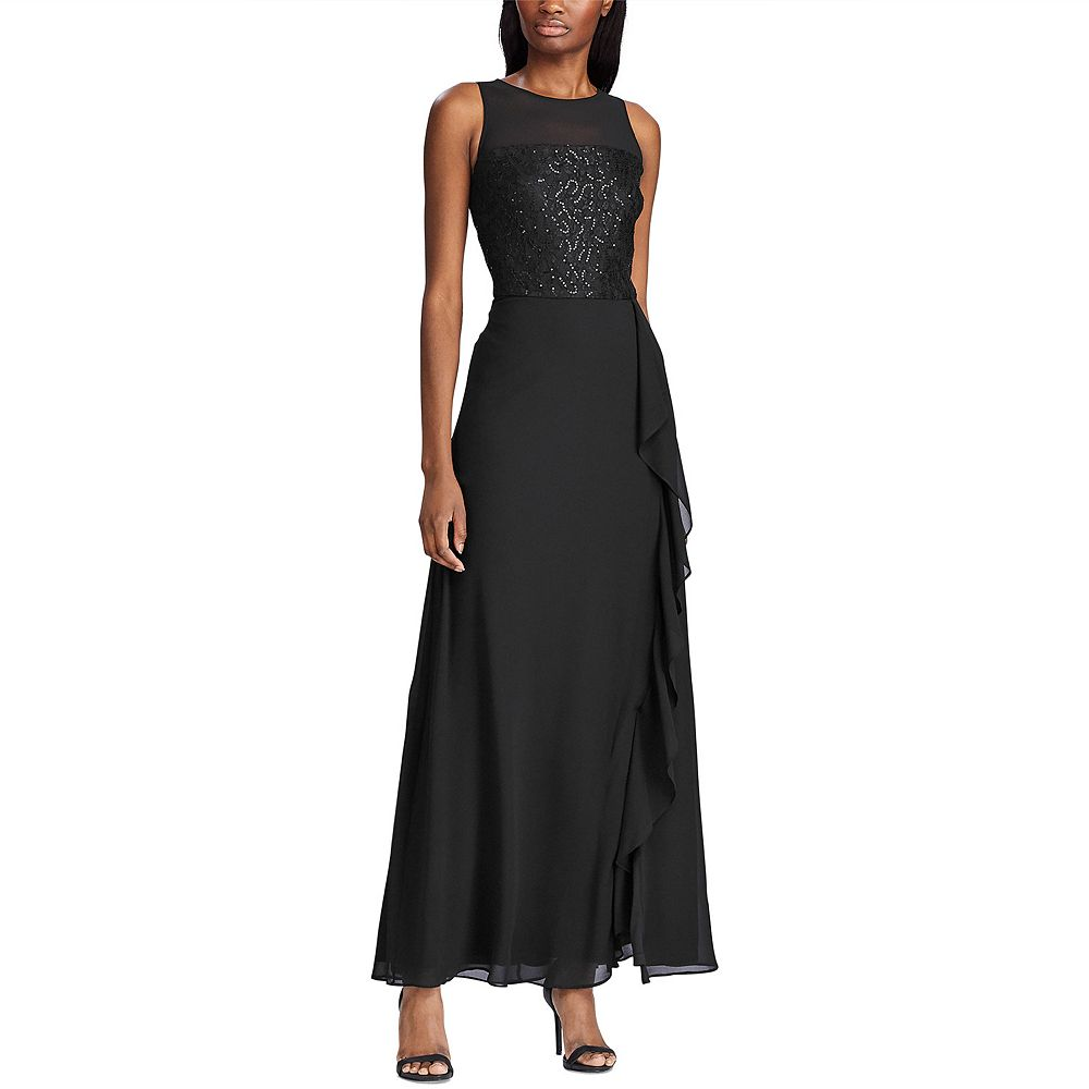 Women's Chaps Sleeveless Georgette Evening Gown