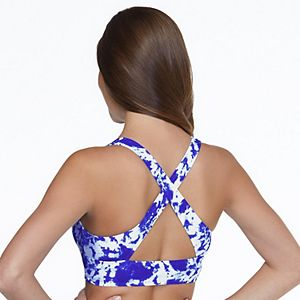 Mix And Match Longline High Neck Swim Top With Wide Back Straps