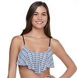 Mix & Match Print Flounce Bikini Top