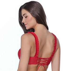 Mix And Match Bralette with Shirred Ruffle Straps