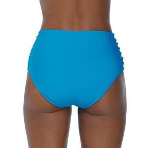Mix & Match Strappy-Side High Waist Swim Bottoms