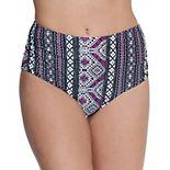 Mix & Match Print High-Waist Bikini Bottoms