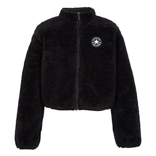 Girls 7-16 Converse Sherpa Cropped Jacket