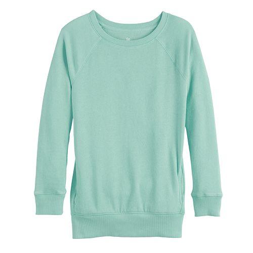 Girls 4-20 & Plus Size SO® Raglan Tunic Sweatshirt