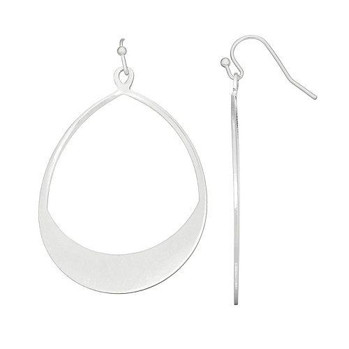 SONOMA Goods for Life™ Silver Tone Open Teardrop Earrings