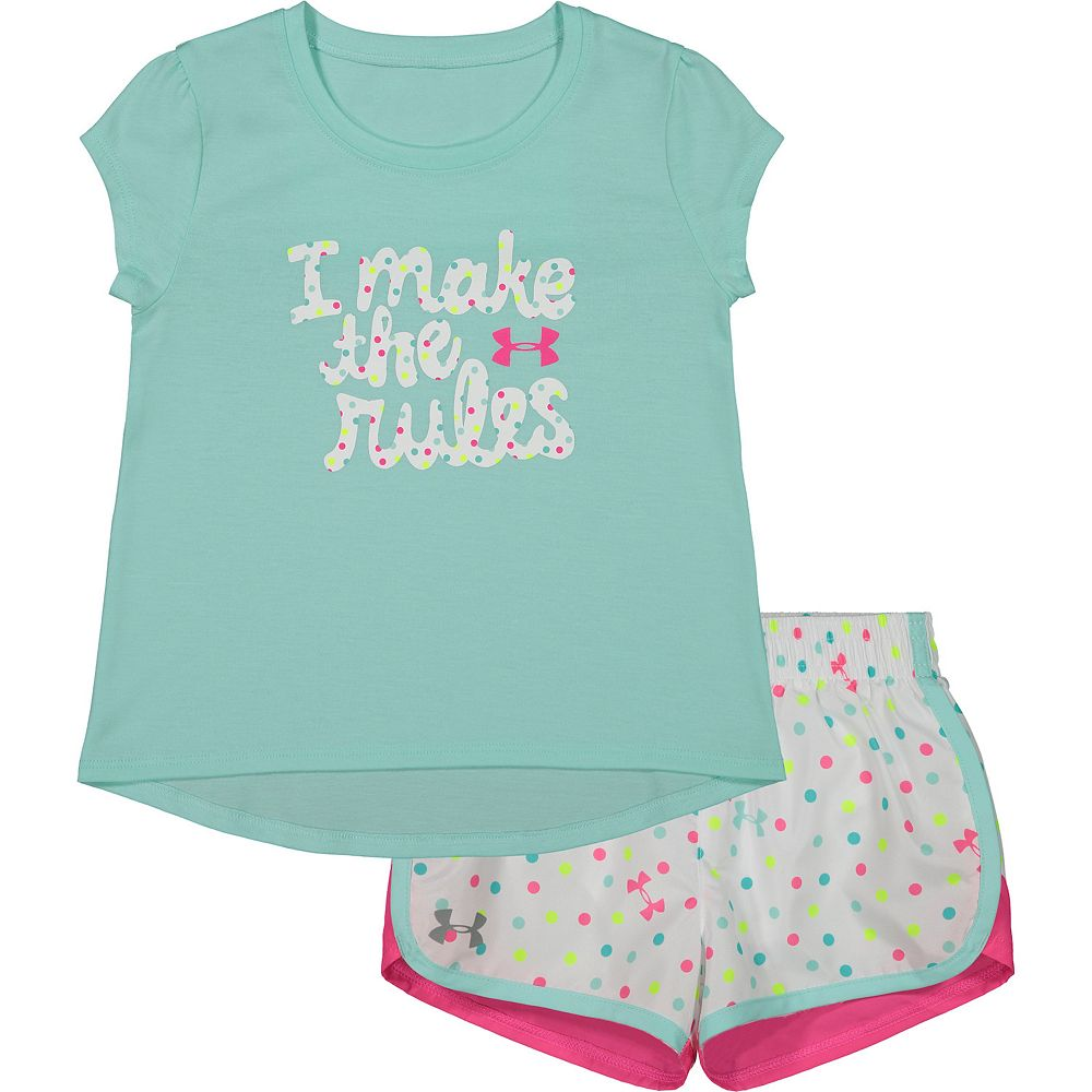 Toddler Girl Under Armour I Make The Rules Tee And Short Set