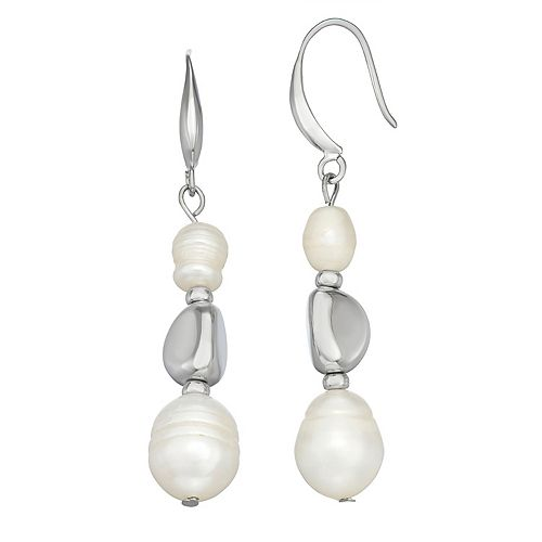 SONOMA Goods for Life™ Silver Tone Simulated Pearl Drop Earrings
