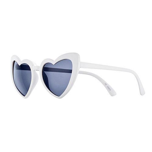 Women's SO® Plastic Heart Sunglasses