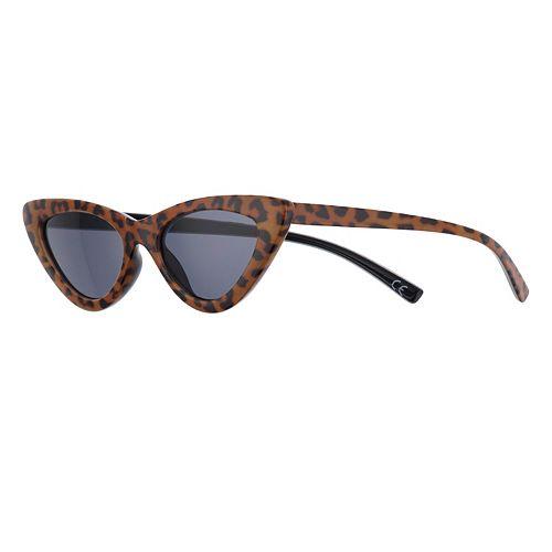 Women's SO® Leopard Print Cat-Eye Sunglasses