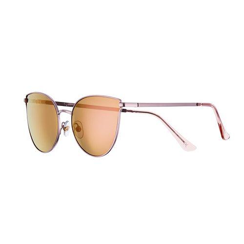 Women's SO® Pink Lens Cat Eye Sunglasses