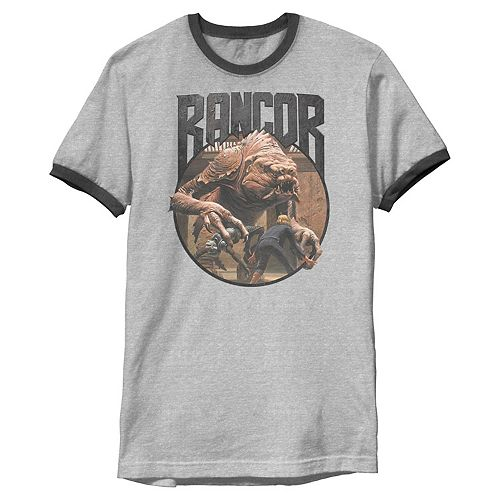 Men's Star Wars Rancor Vs Luke Metal Rock Graphic Tee