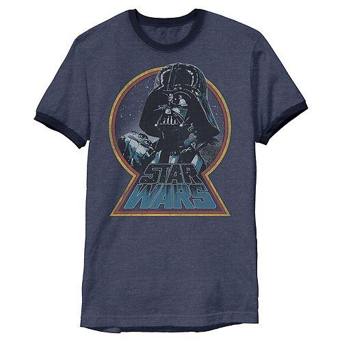 Men's Star Wars Darth Vader Iconic Fist Logo Badge Graphic Tee