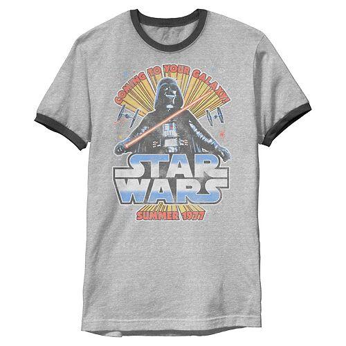 Men's Star Wars Vader Coming Summer '77 Graphic Tee